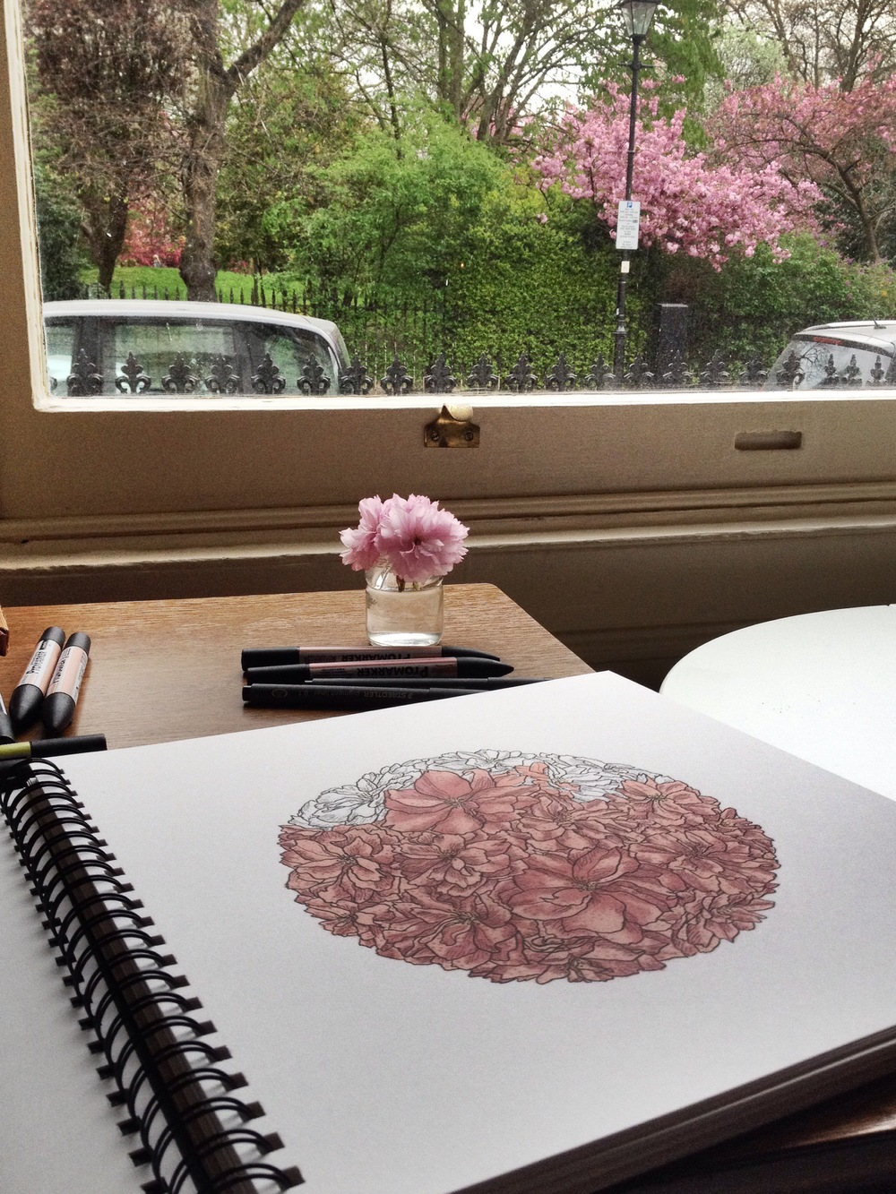 Blossoms inside and out