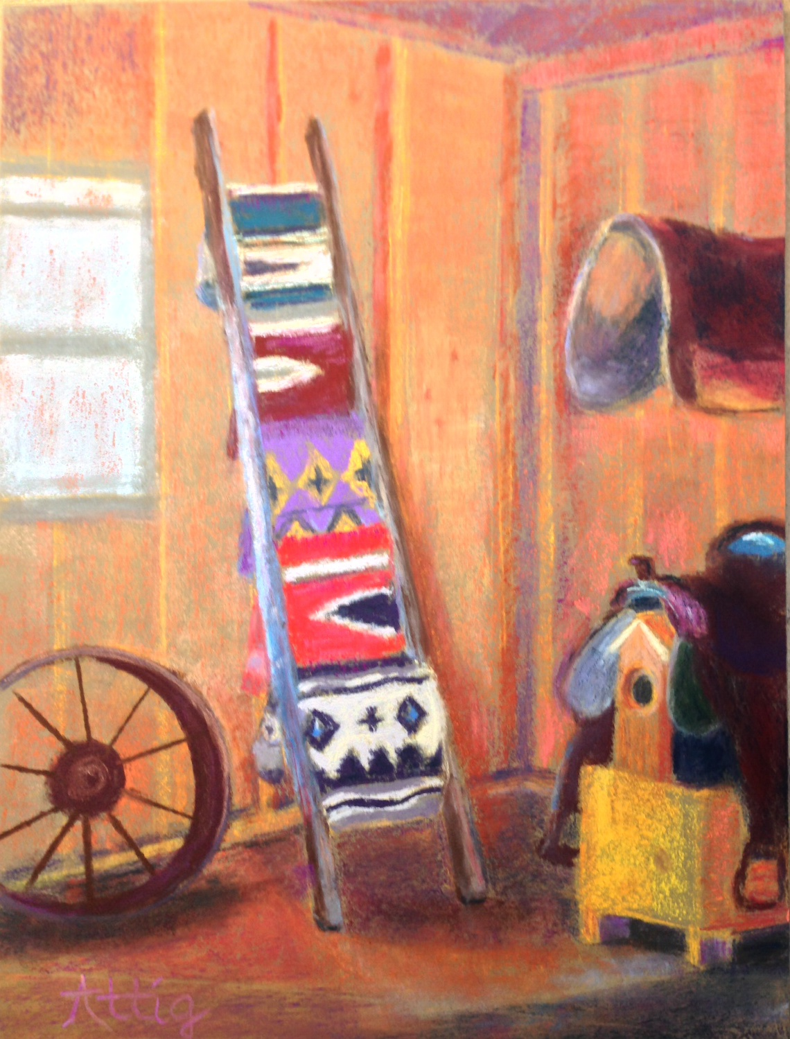 """""""The Tack Shed"""" 12"""" x 9"""" $495"""