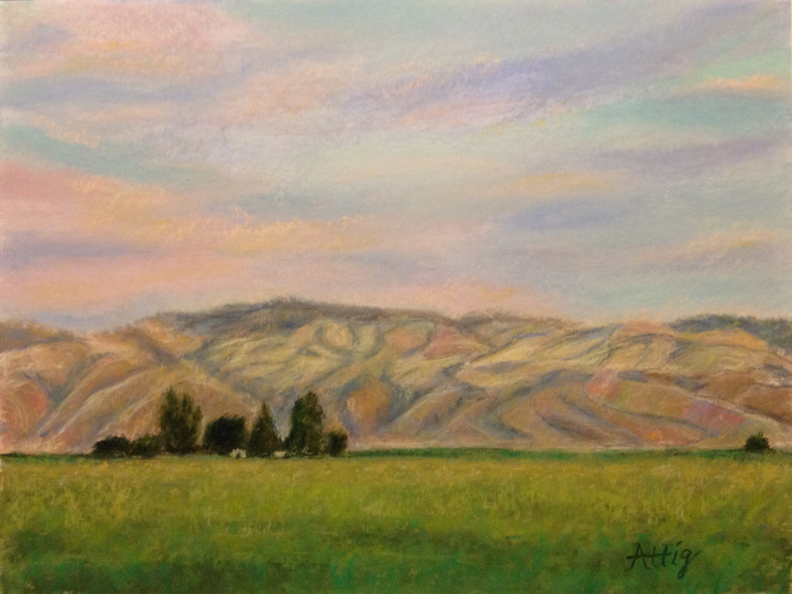 """Sunset, Cuyama Valley"" 12"" x 16"" $660"