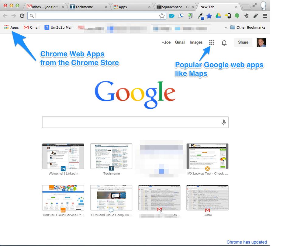 New Google Toolbar — Umzuzu Cloud Services