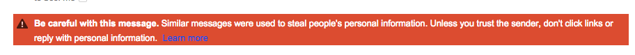 Google proactively added this message to the email in my inbox