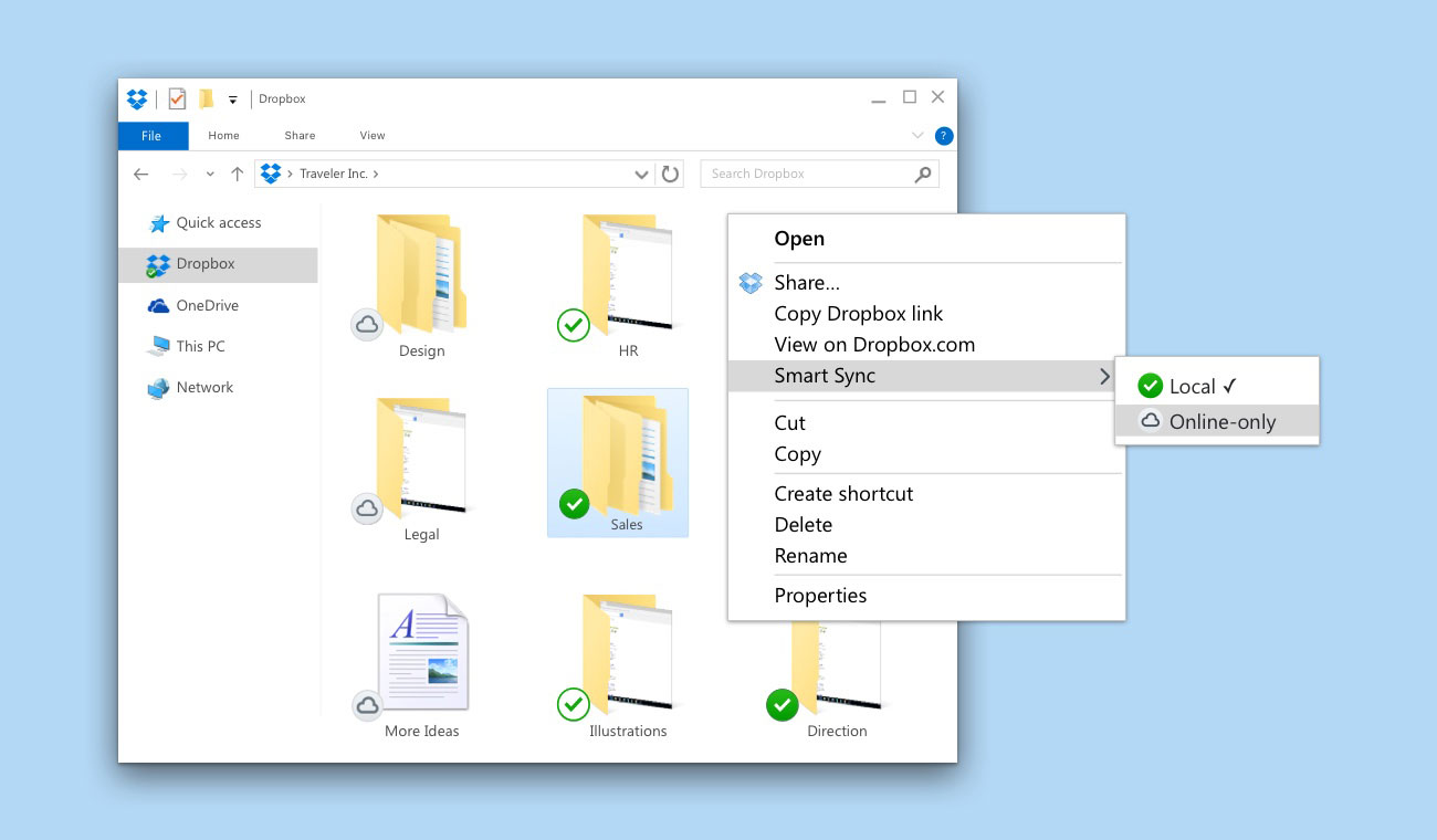 Users can easily move content to the local hard drive or online.