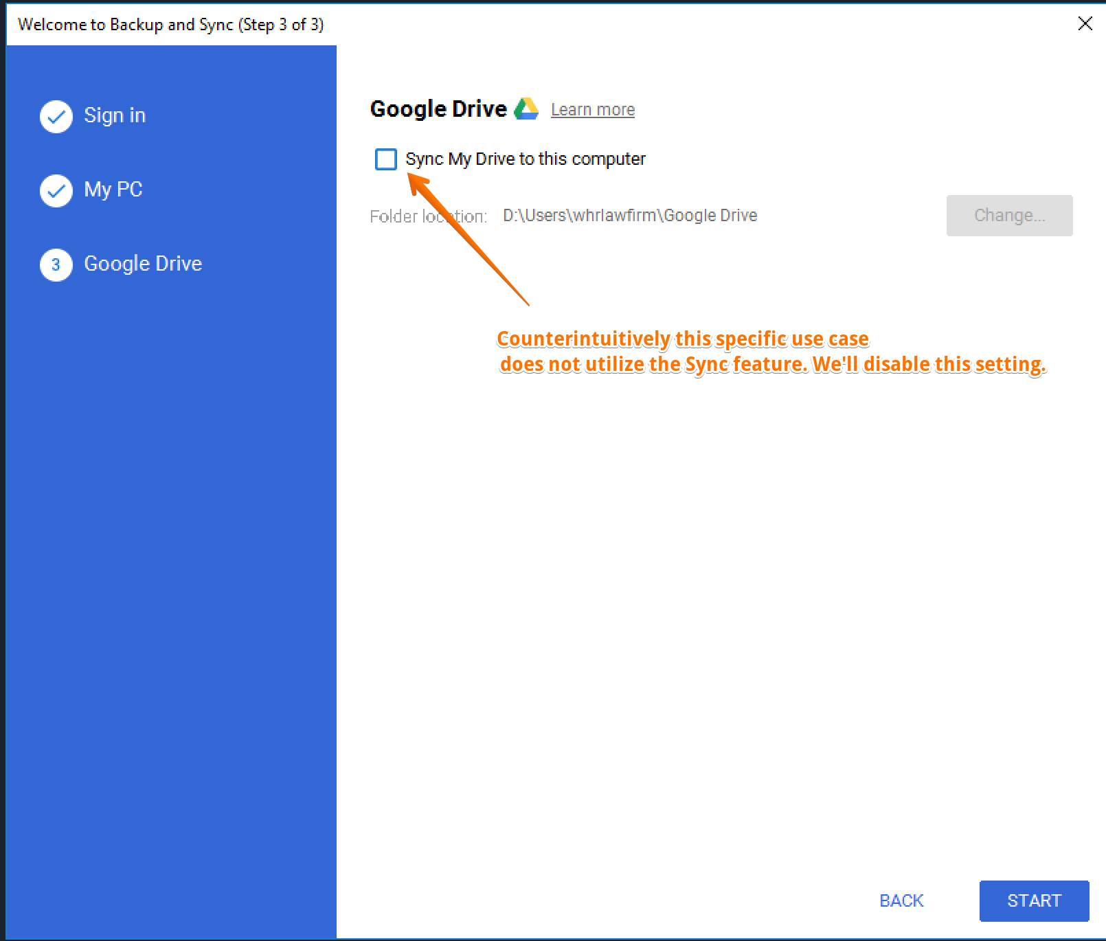Use Google Drive to share folders from your Windows file server