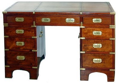 Found this English campaign desk, cerca 1820, on  The Buzz On Antiques