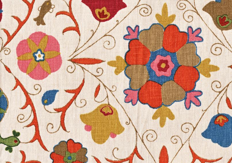 """Kathryn Ireland's Safi Suzani """"Autum"""" fabric"""
