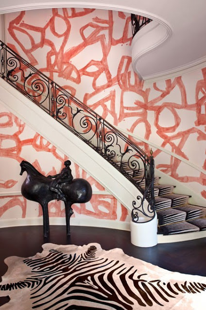Brushstroke Wallpaper by Porter Teleo for Kelly Wearstler via House and Home.jpeg