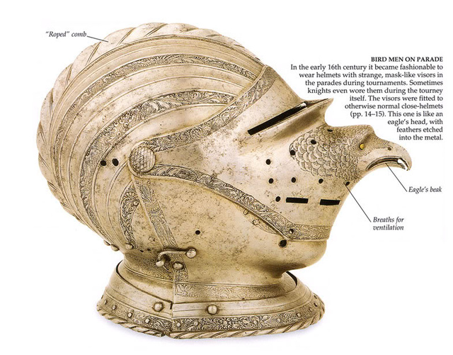 Bird Man helmet from the early 16th Century