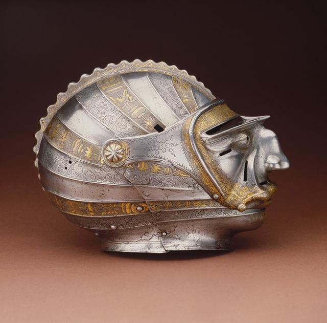 Closed helmet with masked visor, by Kolman Helmschmid in Augsburg, Germany, c. 1515