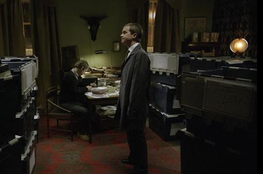 Sherlock Holmes's living room from the BBC's Sherlock