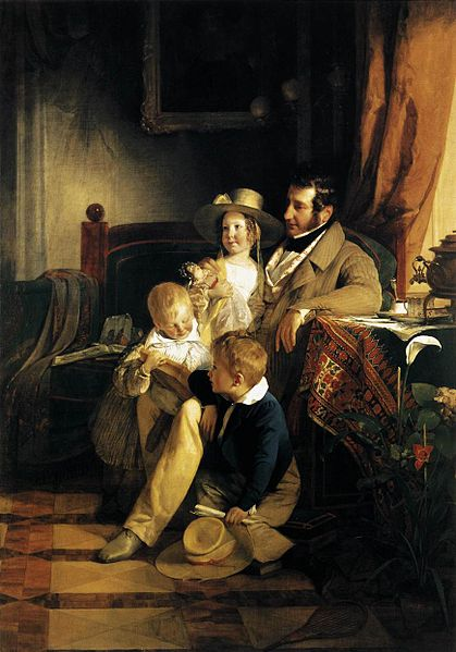 Amerling, Friedrich Von_-_Rudolf_von_Arthaber_with_his_Children_-_WGA00262.jpg