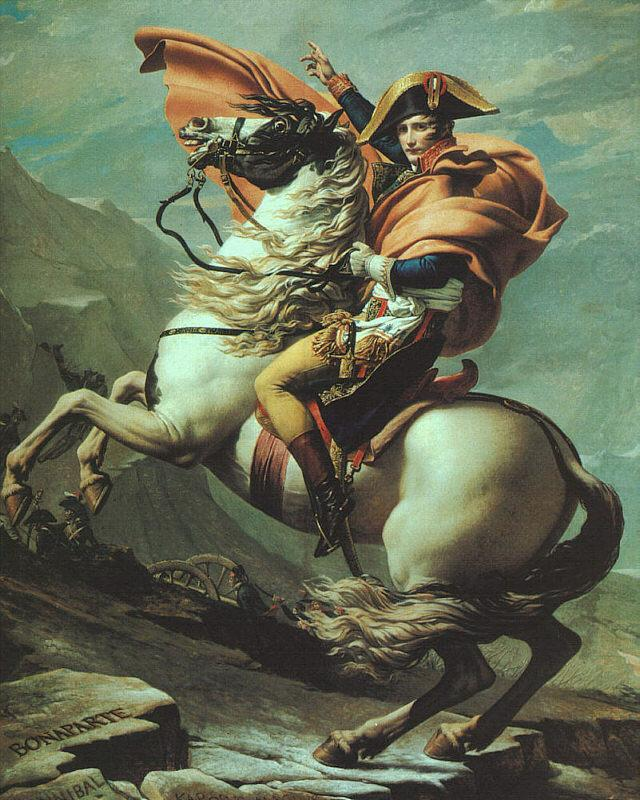 Jacques-Louis David - Napoleon Crossing Saint Bernard
