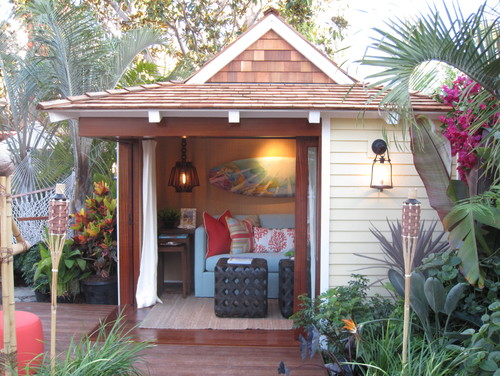 Tropical Garage And Shed  by  Aliso Viejo Interior Designers & Decorators