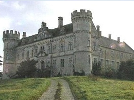 PRICE: $1,621,200    This 13,993-square-foot, 6-bedroom castle sits on 24 acres of land overlooking the countryside of Midi Pyrenees. Features include a large entrance hall opening to the courtyard, salon with a fireplace, grand staircase, elevator, large dining   room with fireplace, two kitchens, a bedroom wing with a hall onto the courtyard, study rooms in the towers, two garages, and access to the chapel and east wing.