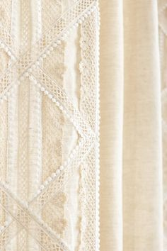Appliqued Lace Curtains  - $188 to $248    ARE THESE JUST FOR MILLIONAIRES!