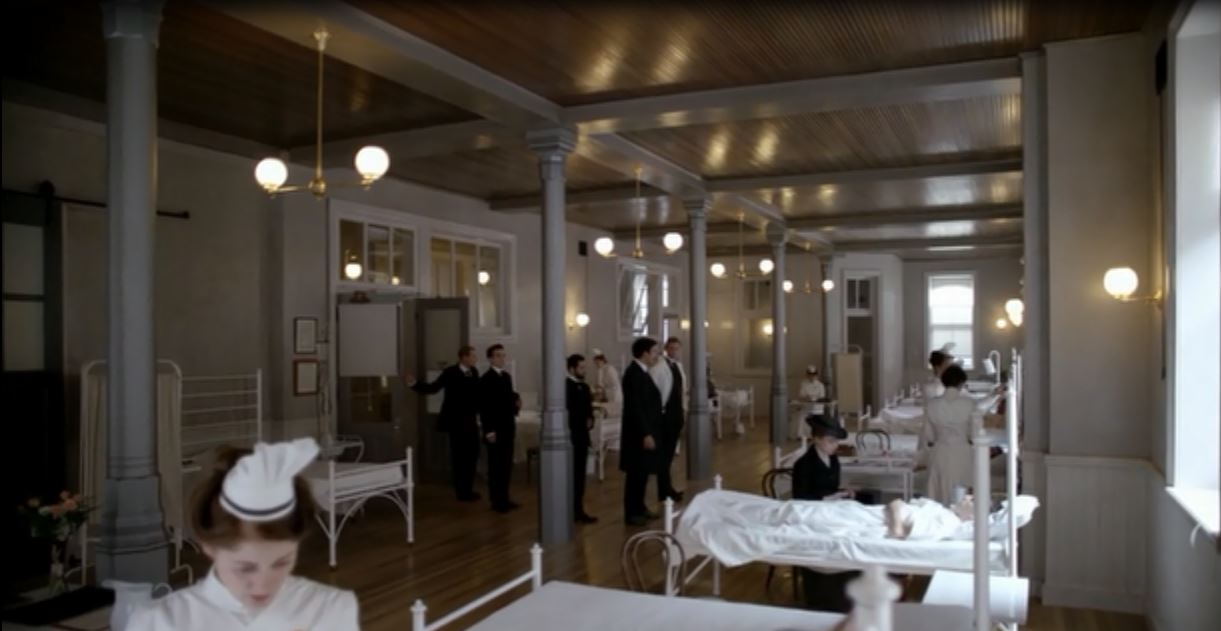 The Knick: Season 1, Episode 1 - Old Time-y New York hospital that couldn't possibly been as hygienic as it looks.