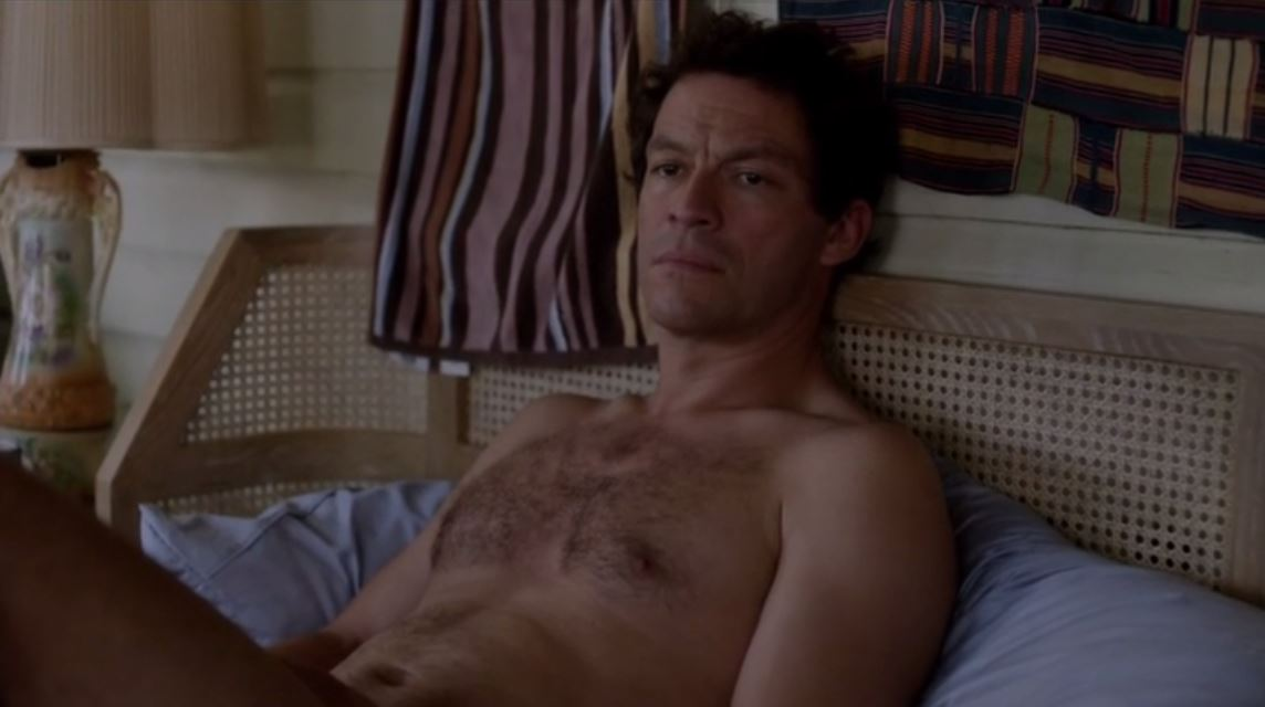 The Affair - A beautiful bed holding a nude man.