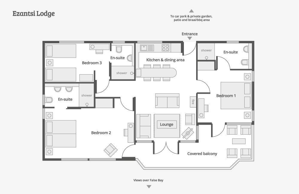 Ezantsi Lodge – Floor-plan