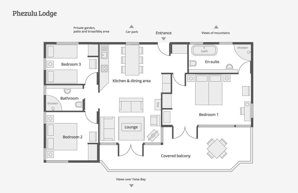 Phezulu Lodge – floor-plan