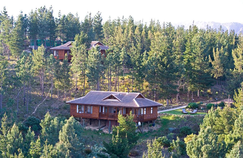 Ezantsi Lodge in the foreground. Phezulu Lodge in the backround