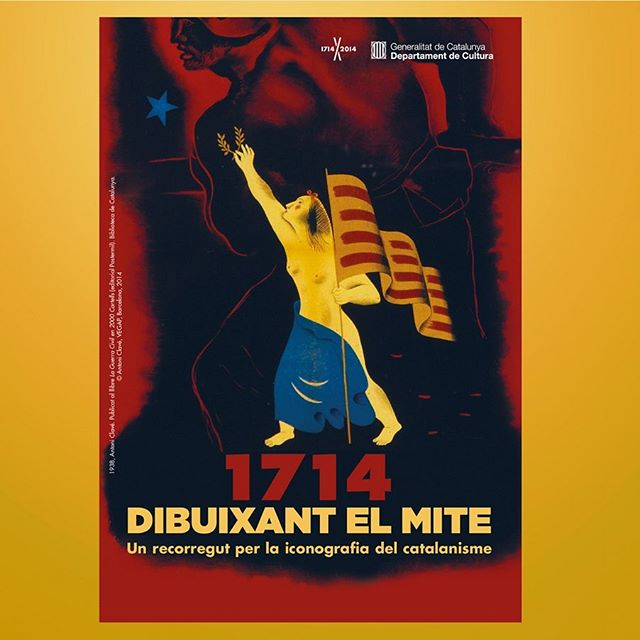 "Brochure for the exhibition ""1714. Dibuixant el Mite. Un recorregut per la iconografia del catalanisme"" Client: Department of Culture (Libraries Service) of the Generalitat de Catalunya Graphic design: Ars Satèl·lit  Year: 2014  #20yearsarssatellit  #graphicdesign #design #brochure #exhibitiondesign #exhibition #1714 #1714dibuixantelmite"