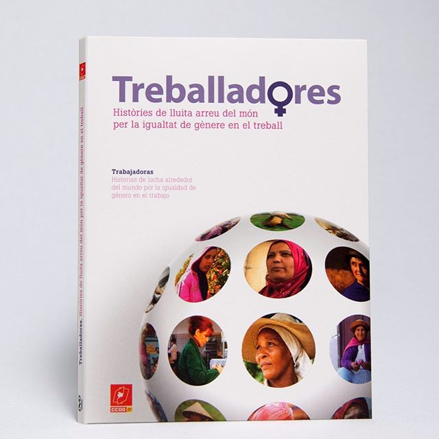 "DVD ""Historias de lucha alrededor del mundo por la igualdad de género en el trabajo"" DVD and packaging graphics DVD authoring  Client: Fundació Pau i Solidaritat CCOO Catalunya  Art direction, graphic design, and production: Ars Satèl·lit  #20yearsarssatellit  #design #graphicdesign #Digipack #booklet #dvd #dvddesign #gendergap"