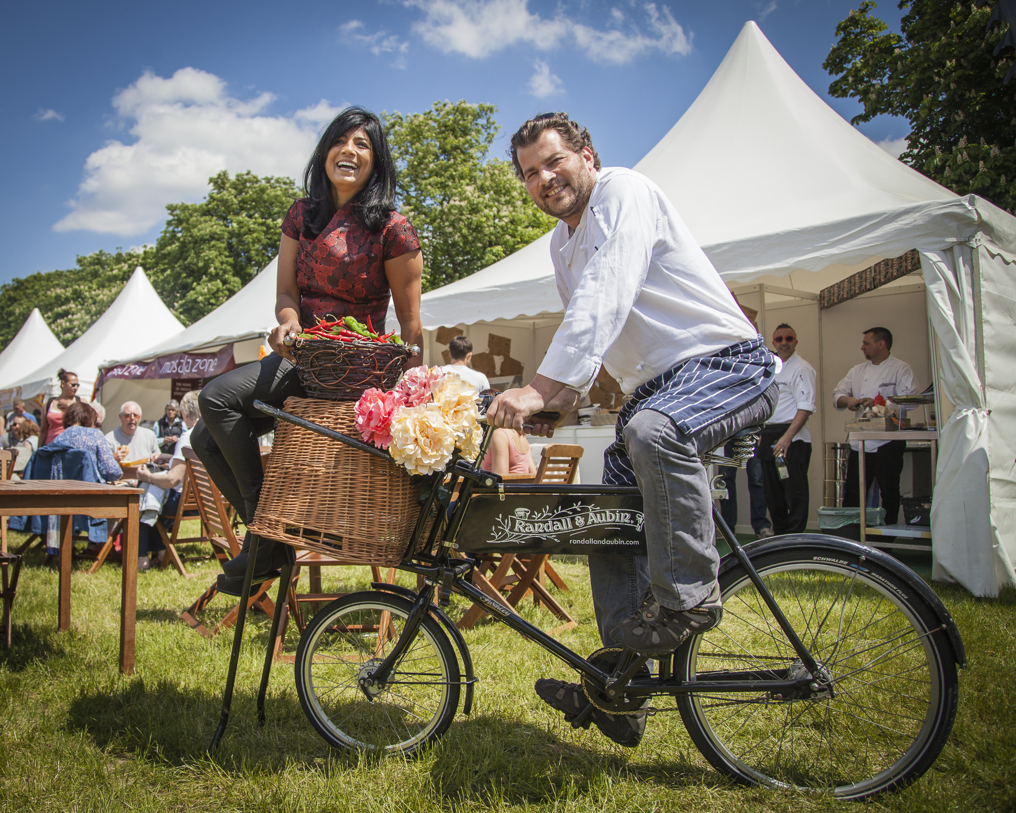 Chef Ed Baines and ITV's  Food Glorious Food  contestant Angela Wilson launch  Foodies Festival Clapham Common