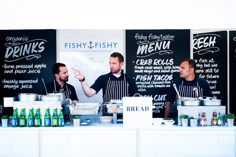 Dermott O'Leary brought his restaurant, Fishy Fishy, to Brighton