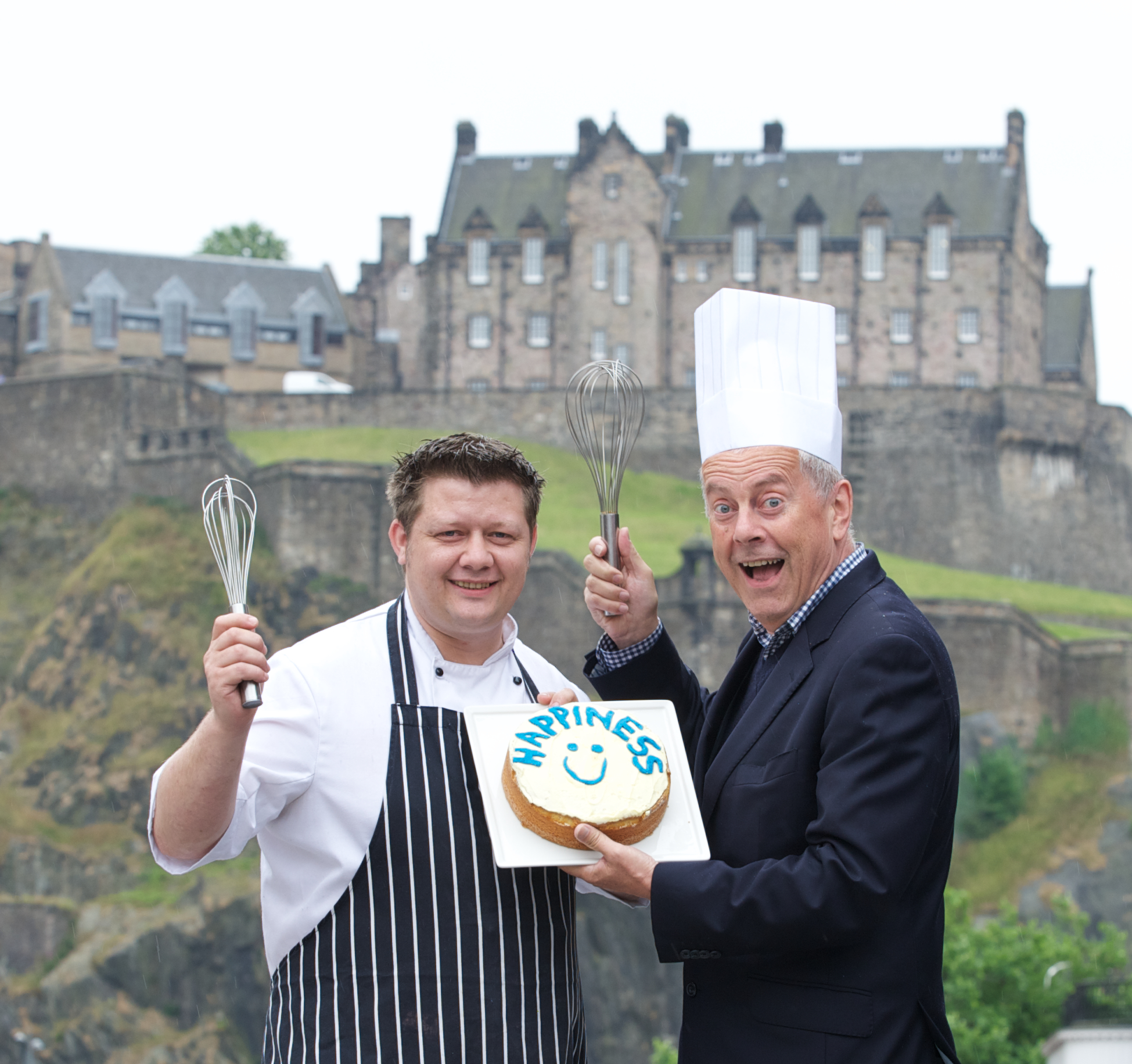 Mark Greenaway and Gyles Brandreth launched Edinburgh Foodies