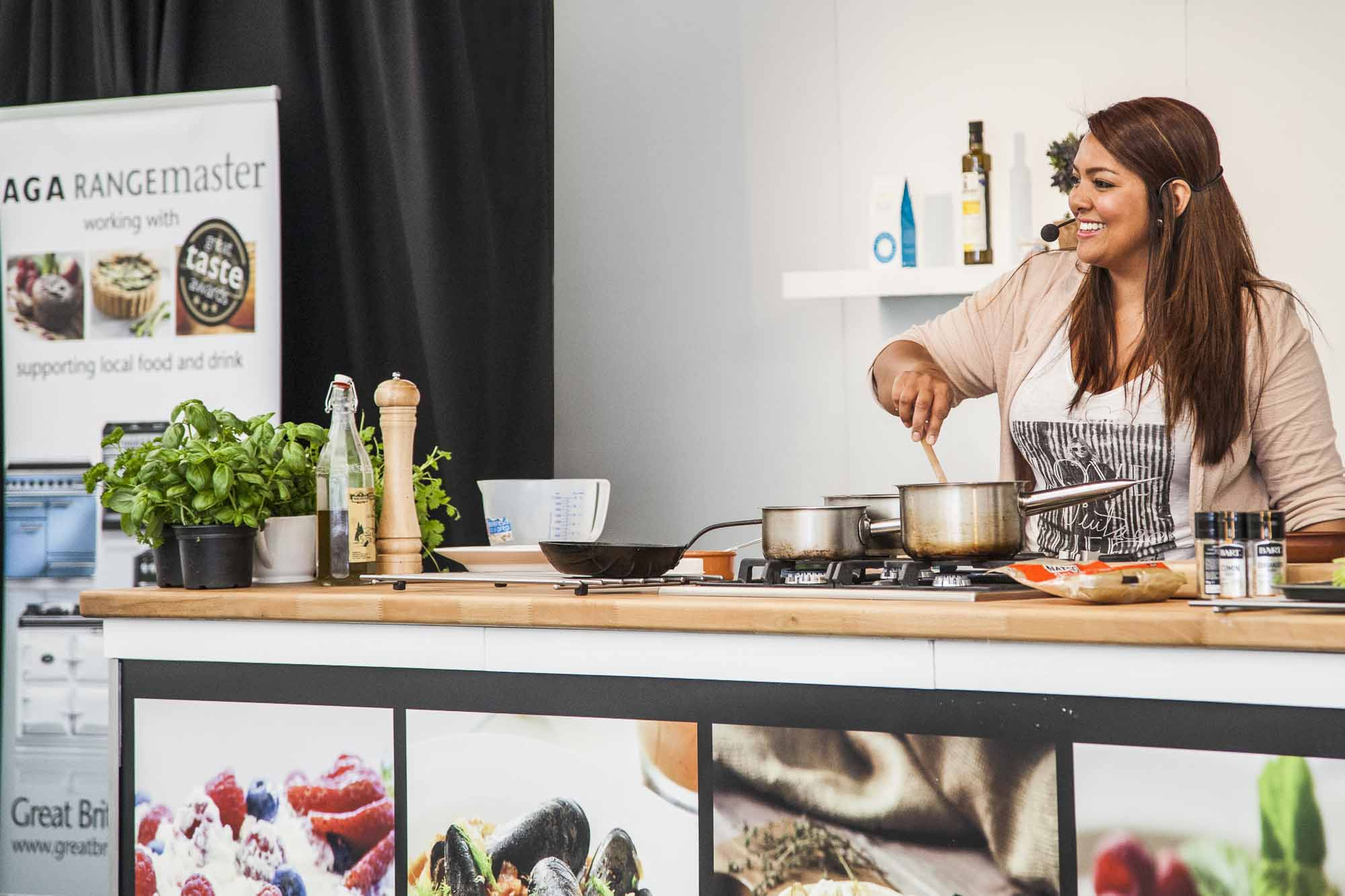 Shelina Permalloo, MasterChef 2012 champ, hosted the Chefs' Theatres in London