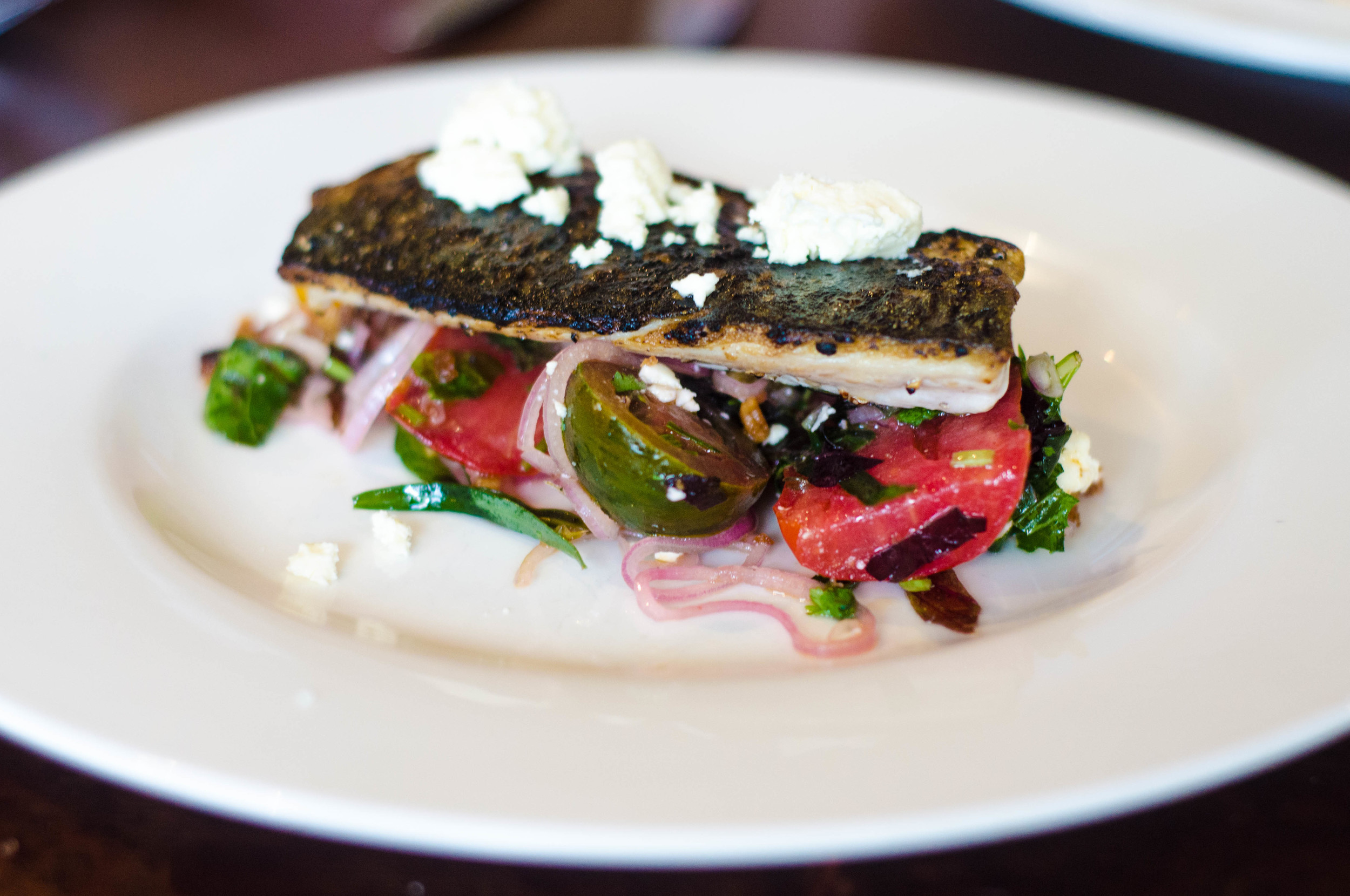 63 Tay Street Flame Roasted Mackerel, tomato salad, Fet Like Cheese.jpg