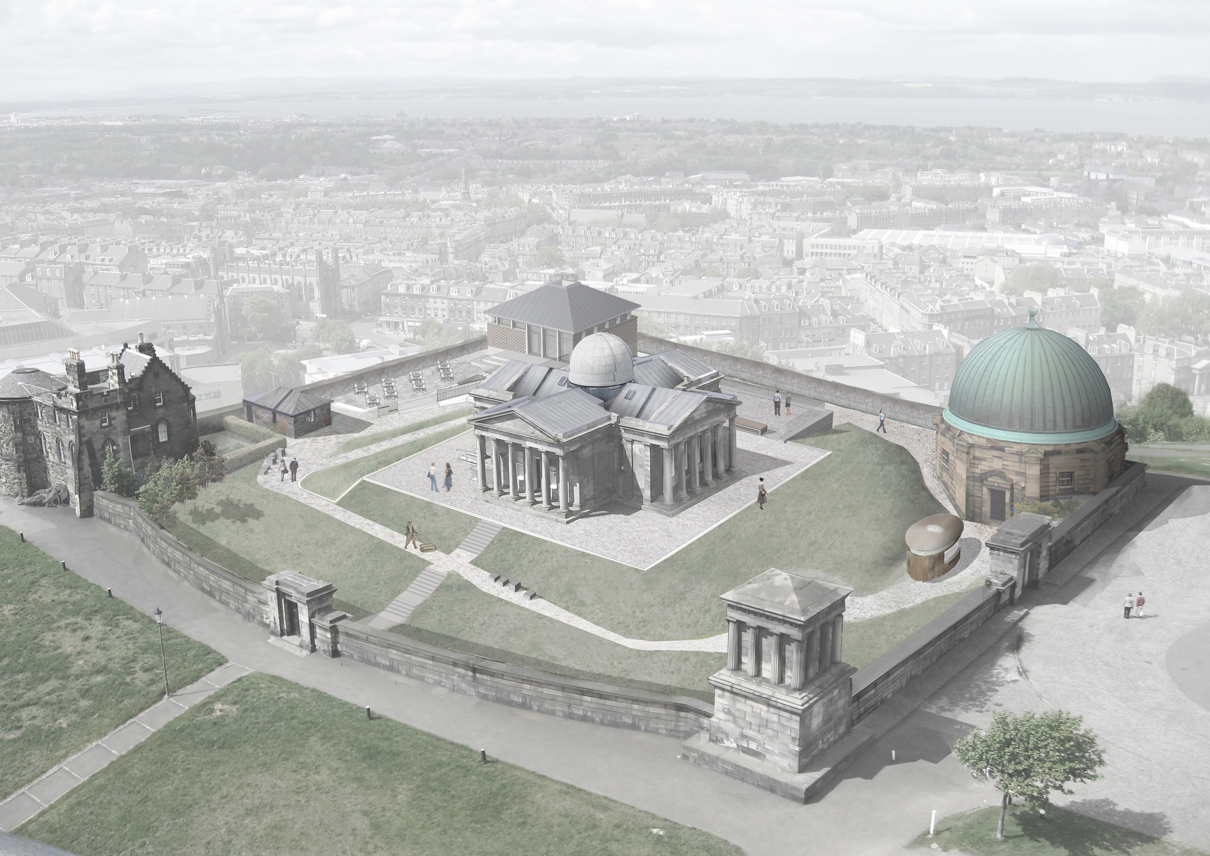 Architect's impression of the completed site on Calton Hill, courtesy of Collective Architecture