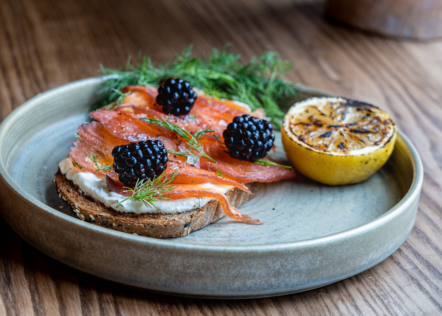 Black Forest Gin salmon gravadlax from the fish section. Image credit: Gram Social