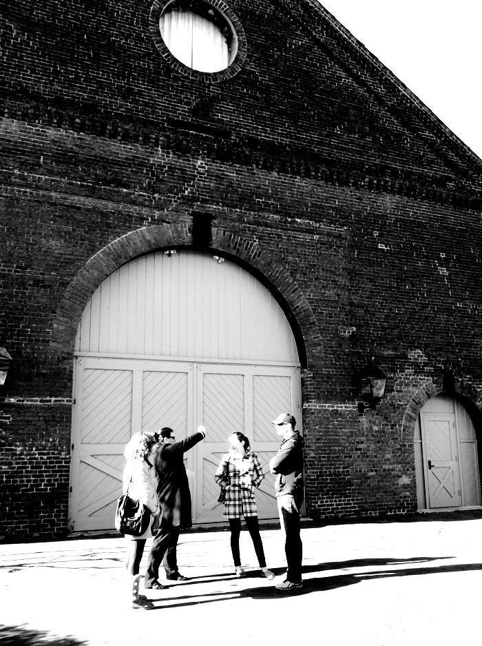 My beautiful baby sister Emily got engaged just after Hurricane Sandy hit. We visited Tredegar Iron Works downtown as a potential wedding venue while we were home. The brick is incredible.