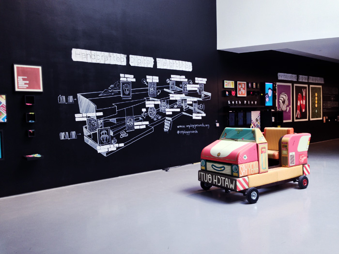 OFFF and Atelier's playful, amazing summary wall with Brosmind's car. This just gives me warm and fuzzies.