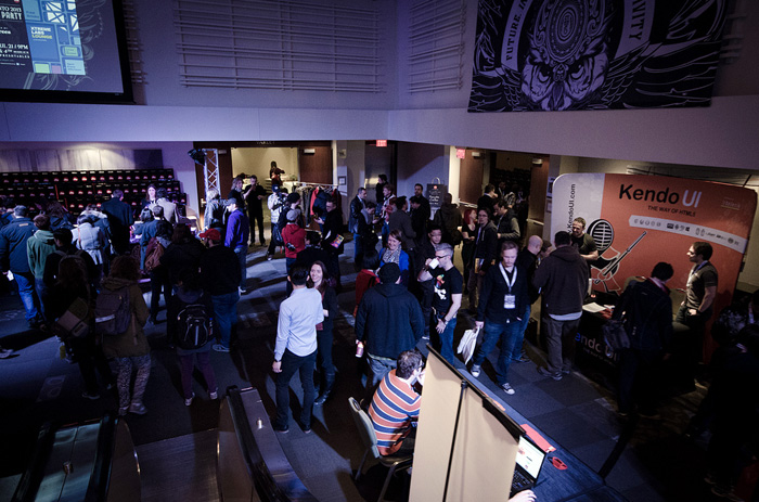 Photo credit—from the FITC Flickr ! Overlooking the event filling up.