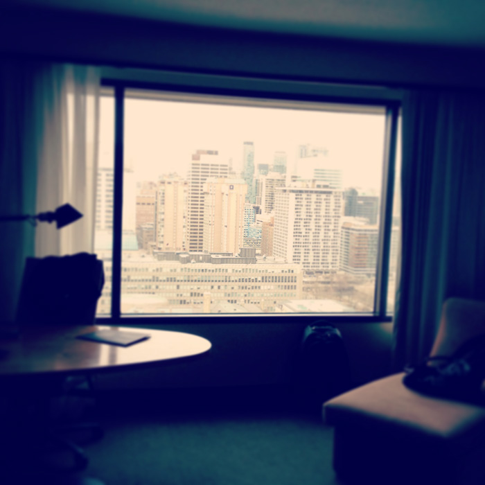 I arrived and immediately set up my remote ZSO workstation in the Toronto Hilton, fully equipped with awesome Toronto views from all the way up on the 26th floor.