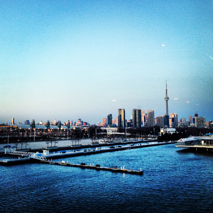 Another beautiful view of CN Tower at the  FITC Awards  show held at Atlantis Pavilions on Lake Ontario with amazing panoramic skyline views from the water.