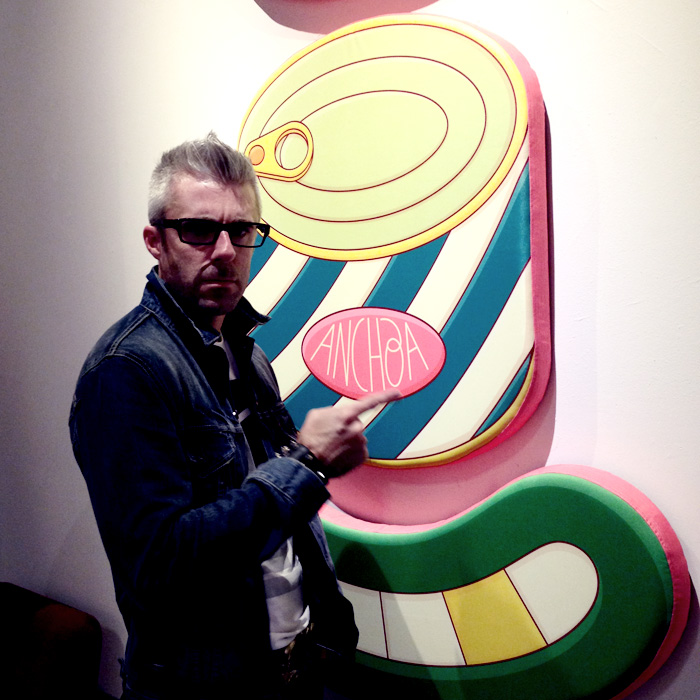 My man James White always looking cool. Brosmind art opening—art you could touch. LIterally—it was all plush.