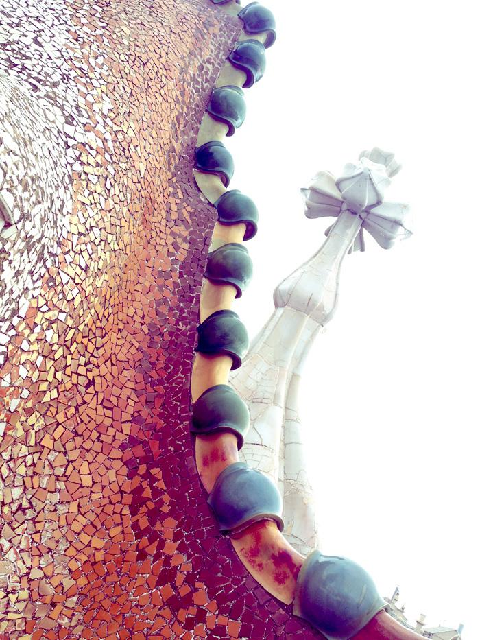 Casa Batlló dragon roof.