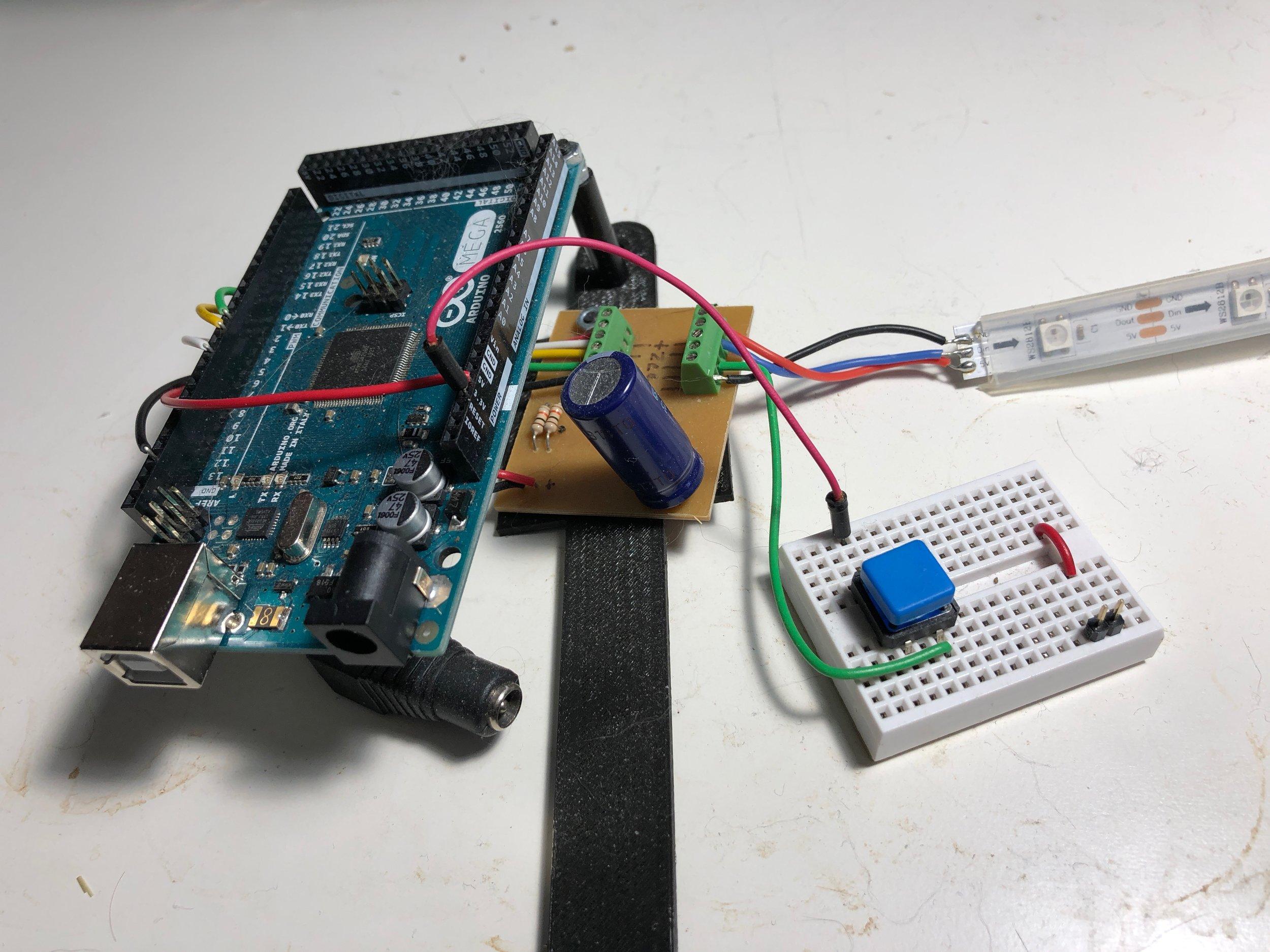 Old Rig - Arduino Mega & 1-meter NeoPixel strip