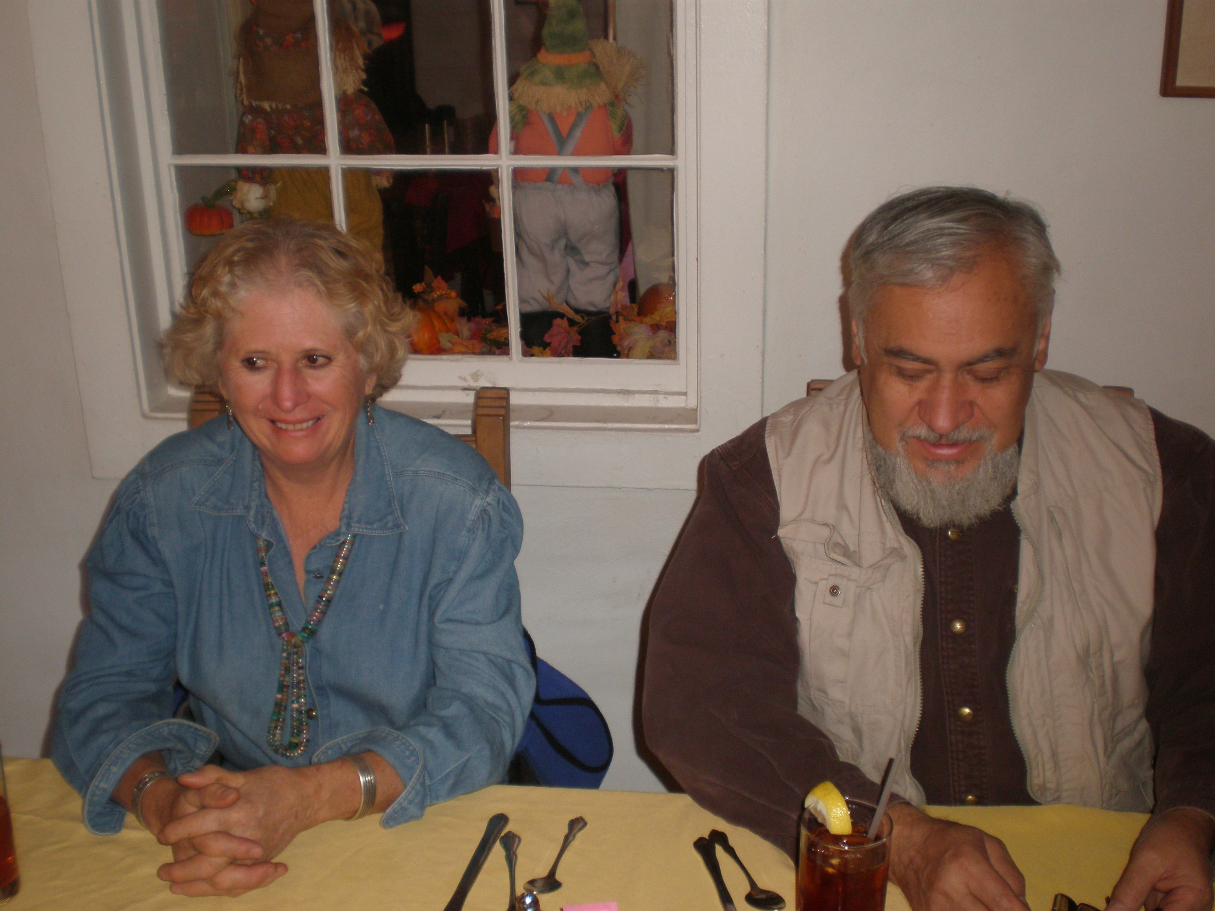 Pat and Marco Oviedo lunching at Rancho de Chimayo