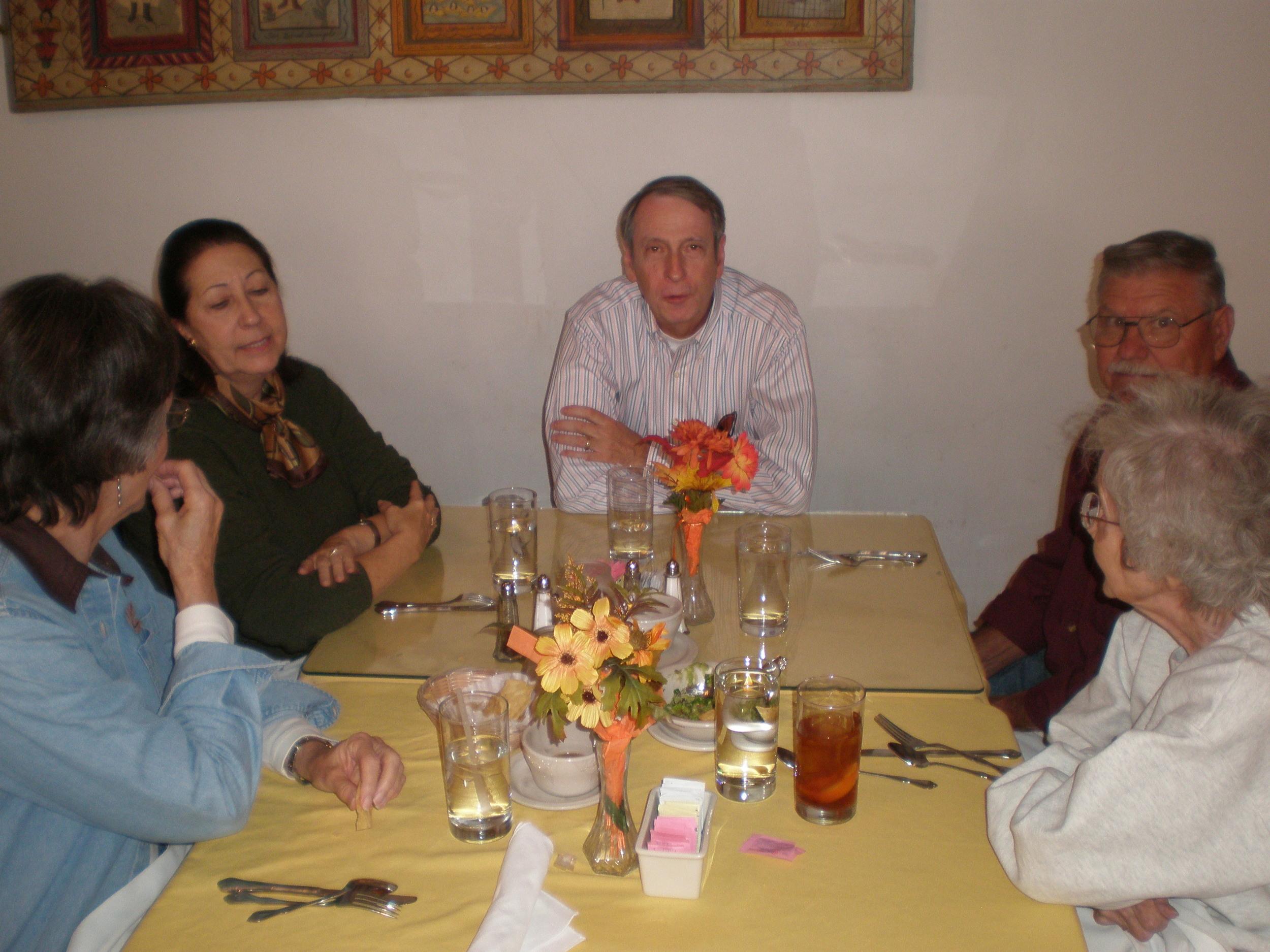 Marilyn, Helen, Jay, Ron, and Jo at Rancho de Chimayo