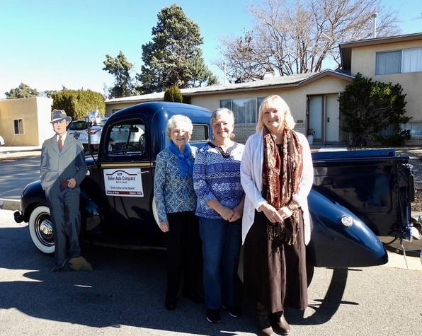 Betty, Karla, Karlene & pickup.jpeg