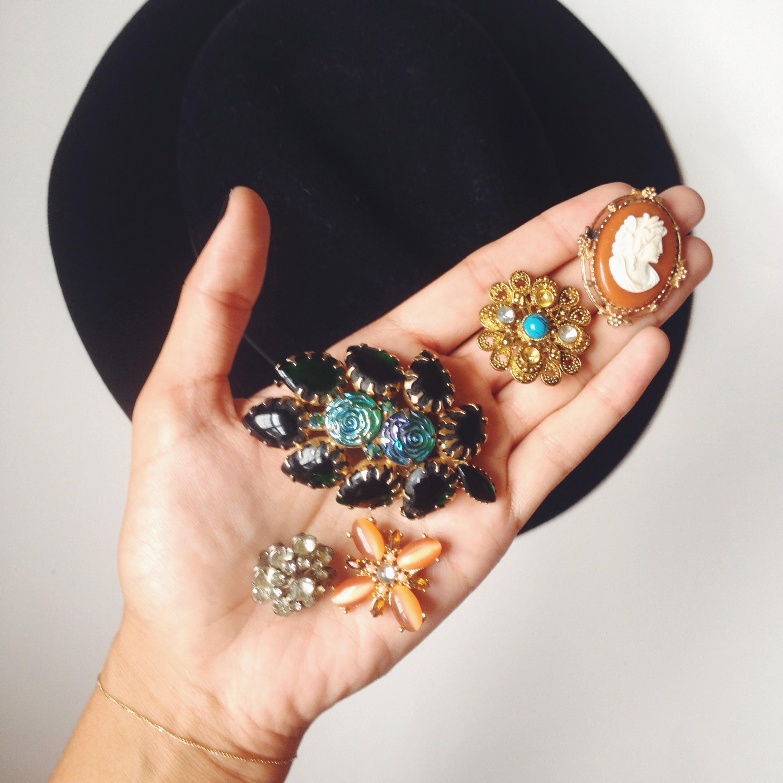 How to wear vintage: One brooch, two ways — Alexandria haddad