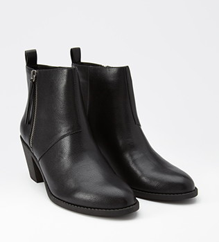 Forever 21 Zip Up Faux Leather Booties.png