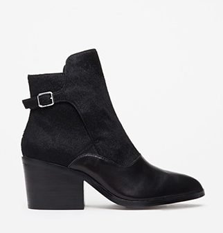 Forever 21 Buckled Ponyhair Ankle Booties.png