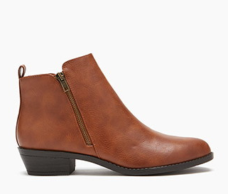 Forever 21 Zippered Ankle Booties.png