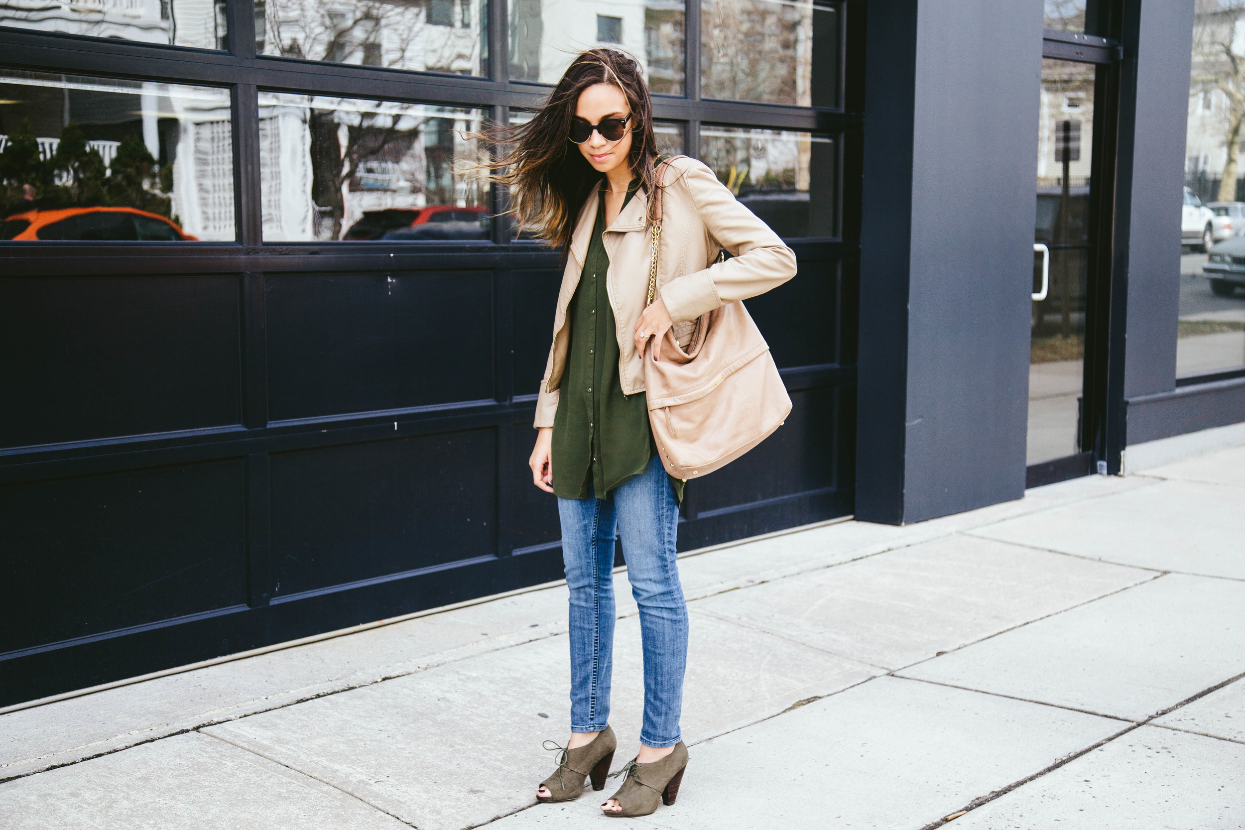 Nude Faux Leather + Olive Booties 6.jpg