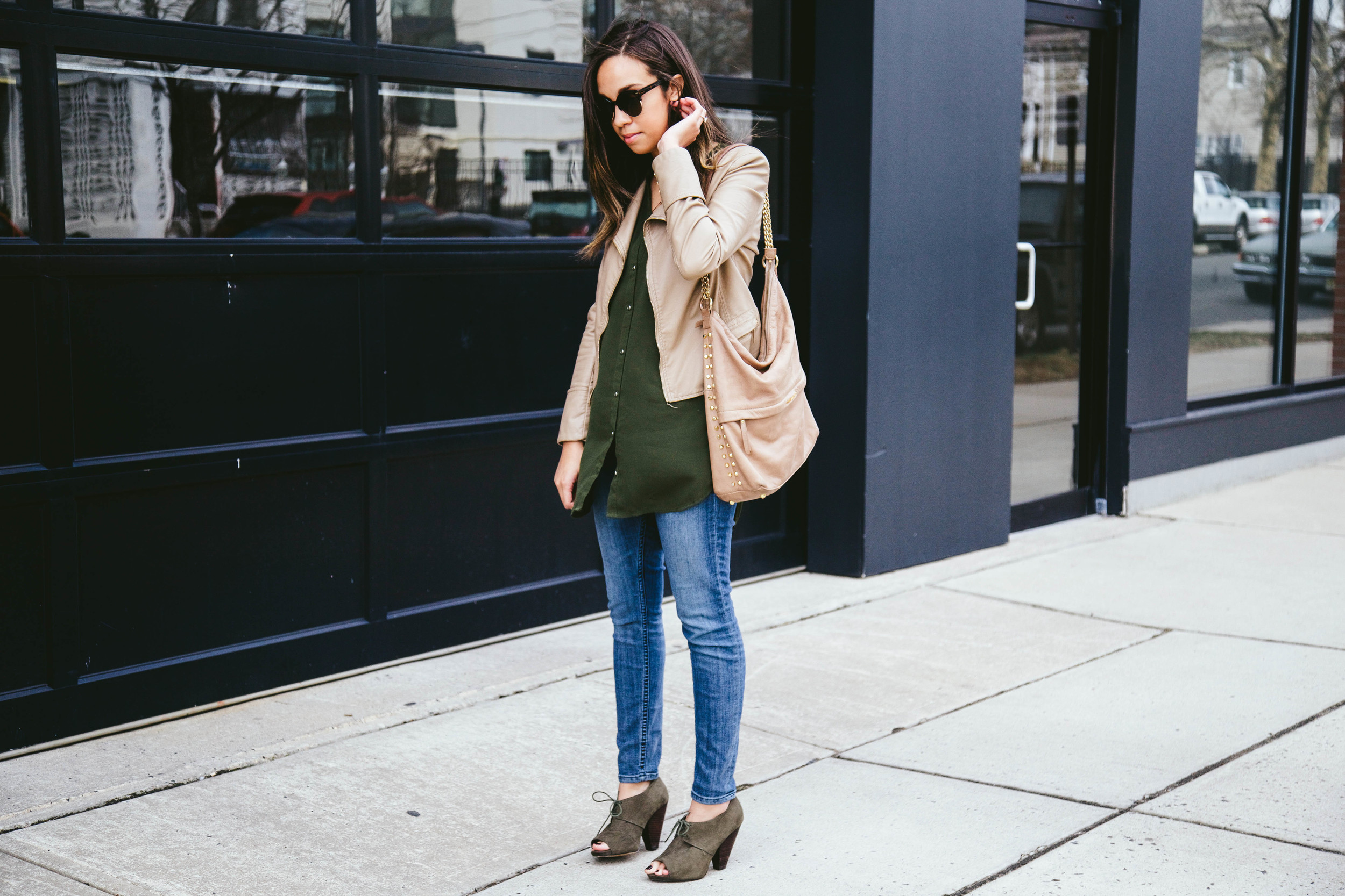 Nude Faux Leather + Olive Booties 5.jpg