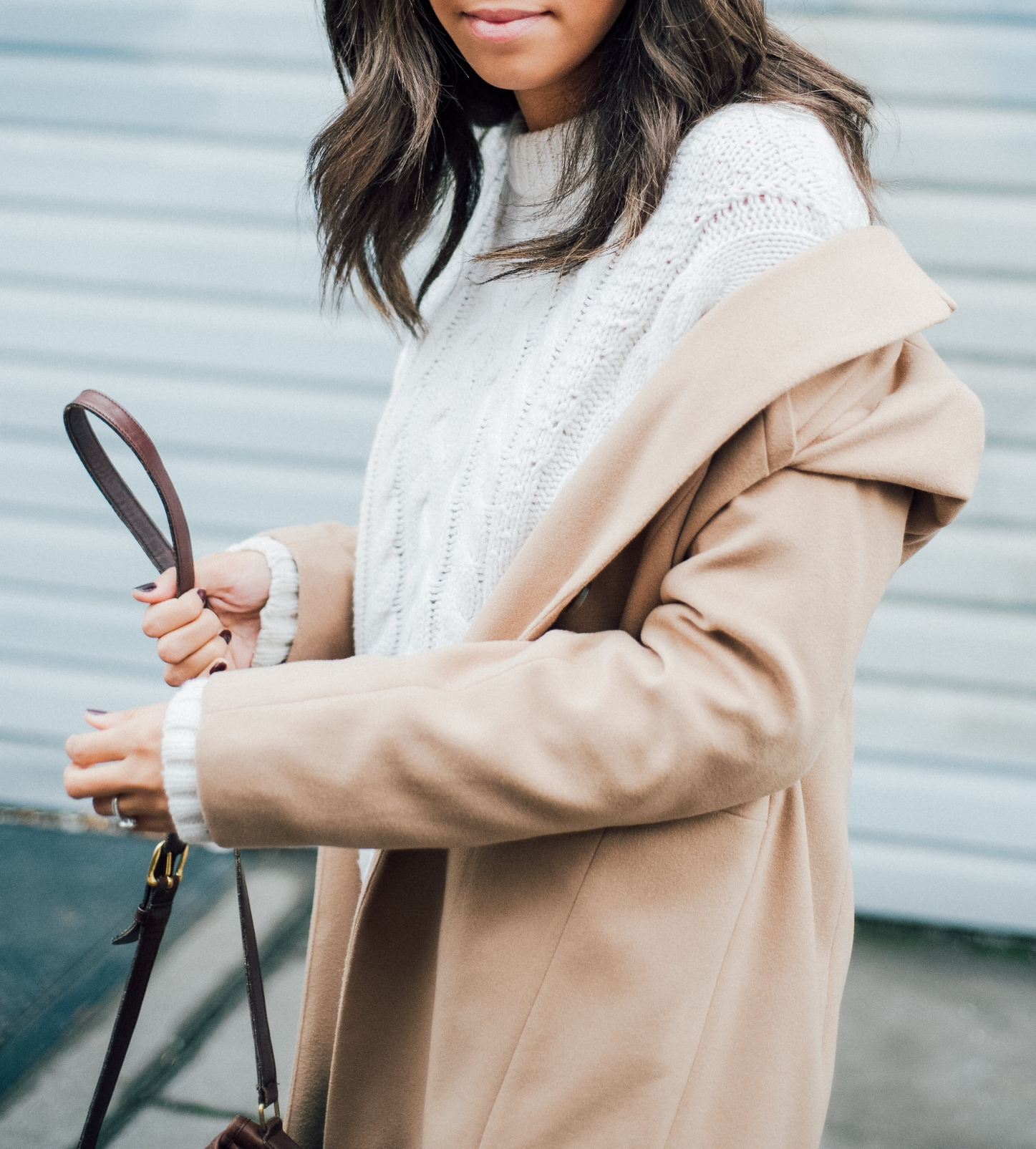 White Cable Sweater + Camel Coat 11.jpg